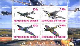 Burundi 2010 Second World War Various Supermarine Spitfire - Airplanes