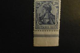 Deutsches Reich Mi. 87 I A ** Unterrand Büge Gepr. Jäschke Lantelme - Unused Stamps