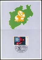 Germany Bochum 2001 / Sternwarte, Observatory, RADOM, Satellite / Ministerkarte, Minister Card, Folder - FDC: Panes