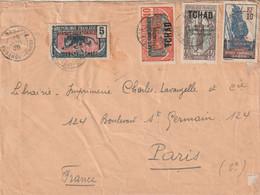 OUBANGUI Lettre 1930 BANGUI Pour Paris Au Dos Cachet Du Commandant Militaire De L'Oubangui-Chari - Storia Postale