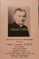 Dubois Georges - Curé De Lombise-Ath - Sirault 1916/1960 - Overlijden
