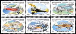 Cambodge Cambodia 1996 Douglas M2, Pitcairn Mailwing, Boeing 40, Potez 25, Boeing PT-17 (Mi 1605, St Gibbons 1545) - Flugzeuge