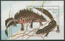 Laos 1994 Reptilien Und Amphibien: Kammmolch Block 150 Postfrisch (C30291) - Laos