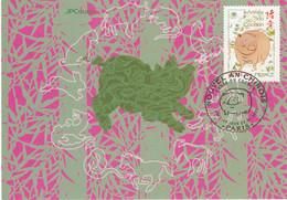 France Carte Maximum 2007 4001 Année Lunaire Chinoise China Cochon - 2000-09