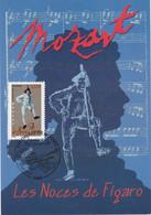 France Carte Maximum 2006 Personnage Opéra De Mozart 3918 Les Noces De Figaro - 2000-09