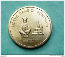 """Jeton Touristique """"Notre Dame De Pontmain - 17 Janvier 1871"""" Mayenne - Pays-de-Loire - 2000"""