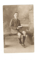 Carte Photo - Jeune Homme Assis Sur Un Banc - PHA 156 - Photographs
