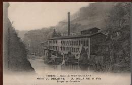 63 - THIERS - Usine De MONTMILLANT - Maison J. DELAIRE - Forges Et Coutellerie - Thiers