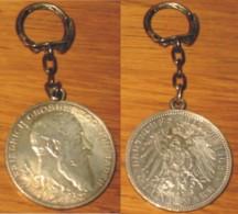 Pièce 5 Mark 1902 Friedrich Grosherzog Von Baden Montée En Porte-clés Très Bon état - 5, 10 & 20 Mark Oro