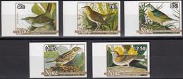 NIUE 1985 Birth Bicentenary Of Audubon IMPERF Plate Proofs, Set Of 5 - Mussen