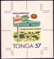 TONGA 1991 Cromalin Proof In Tongan - Broken Glass Left On Beach - 5 Exist - Polucion