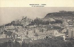 MONACO - CPA - Théâtre Et Vue Panoramique - MONTE CARLO - - Opera House & Theather
