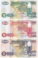 Zambia SET - 20 50 100 Kwacha 1992 2009 - UNC - Zambia