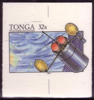 TONGA - Cromalin Proof 1991 - Telecommunications Satellite - Map - 5 Exist - Oceania