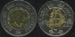 Canada 2 Dollars. 2012 (Bi-Metallic. Coin KM#1258. Unc) HMS Shannon - Canada