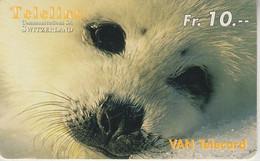 SWITZERLAND - PHONE CARD - PRÉPAYÉE TELELINE  ***  BEBE PHOQUE 1  *** - Pinguini