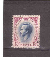 1955 RAINIER III 15F - Used Stamps