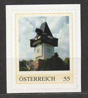 Österreich Personalisierte BM Wahrzeichen Uhrturm Am Schlossberg Graz ** Postfrisch Selbstklebend - Private Stamps