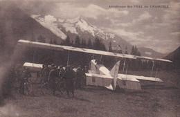 74  CHAMONIX - Aérodrome Des PRAZ De CHAMONIX - Un Biplan Goliath FARMAN Face Au Glacier- Carte RARE - Aerodromes