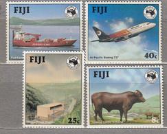FIJI 1984 Ausipex Ship Airplane Animals MNH(**) Mi 508-511 #31271 - Zonder Classificatie