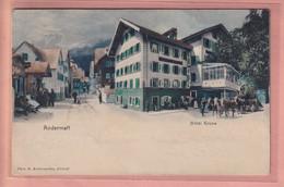 OUDE POSTKAART - ZWITSERLAND -  POSTKUTSCHE - - ANDERMATT - HOTEL - UR Uri