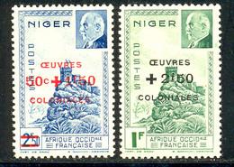 Niger 1944 Yvert 95 / 96 ** TB Bord De Feuille - Unused Stamps