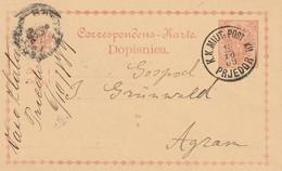 Bosnie Entier Postal Prjedor 1889 - Bosnia And Herzegovina