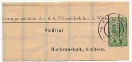 AUTRICHE - Bande Pour Journaux 5 Heller - Zentralpolizeiblatt Der D. ö Polizeidirection In Wien - 1919 - Entiers Postaux