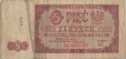 Polen P135 5 Zloty 1.7.1948 F Mit Graffiti - Polen
