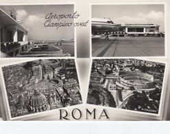 AEROPORTO-AEROPORT-AIRPORT-FLUGHAFEN-CIAMPINO OVEST-ROMA-ITALY-CARTOLINA VERA FOTOGRAFIA-VIAGGIATA. NEL 1954 - Aerodromes