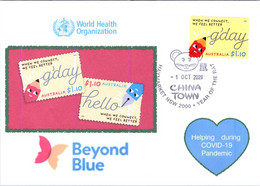 (2 A 29) COVID-19 - 1st Day Of Issue Cover For Beyond Blue & Australia Post G'Day - Helping During COVID-19 Pandemic - Enfermedades