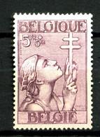 BELGIQUE - YT 383 - 5F+5F Lilas - Neuf N* (trace Très Légère) - Très Beau - Nuovi