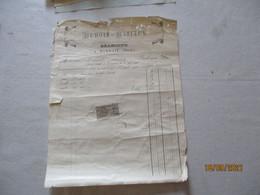 HORDAIN NORD DUBOIS-BISIAUX BRASSEUR FACTURE DU 24 DECEMBRE 1893 TIMBRE QUITTANCES - 1800 – 1899