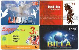 @+ Lot De 4 Télécartes  Prépayées Différentes - France (23) - Prepaid Cards: Other