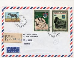SENEGAL - Enveloppe De DAKAR RP 8/8/1971 Affranchissement Composé 2 Valeurs Mort Napoléon - Sénégal (1960-...)