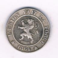 10 CENTIMES 1864 BELGIE /7197/ - 03. 5 Centimes