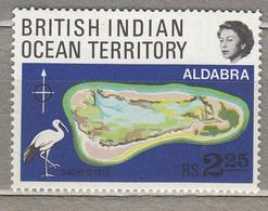 BRITISH INDIAN OCEAN TERRITORY 1969 Map Birds MNH(**) Mi 31 #31283 - Ohne Zuordnung