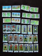 Lot De 77 Vignettes + Doubles Non Comptés  PANINI Championnat Football 77 1977  Figurine Image Vignette RTL - French Edition