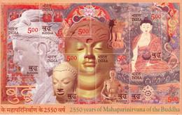 INDIA 2007 2550 YEARS OF MAHAPARINIRVANA OF THE BUDDHA Miniature Sheet/SS MNH, P.O Fresh & Fine - Unused Stamps