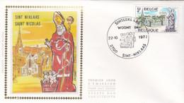 Enveloppe FDC Soie 1873 Sint Niklaas Saint Nicolas - 1971-80