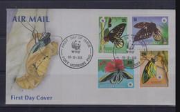 Papua New Guinea 1988 Butterflies WWF Local FDC - Schmetterlinge