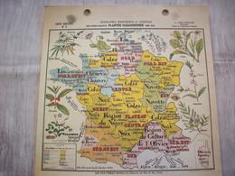 Carte France Géographie Economique Et Agricole ( Plantes Oléagineuses ) - Mapas Geográficas