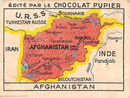 PIE-FO-21-2899 : AFGHANISTAN. CARTE GEOGRAPHIQUE. EDITION DU CHOCOLAT PUPIER. - Afghanistan