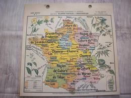 Carte France Géographie Economique Et Agricole ( Plantes Textiles Et Industrielles ) - Mapas Geográficas