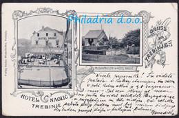 Trebinje, Hotel Naglić, Mailed 1899, Right Upper Corner Creased - Bosnia Y Herzegovina