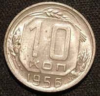 RUSSIE - RUSSIA - 10 KOPECKS 1956 - 16 Rubans - KM 116 - КОПЕЕК - Rusland