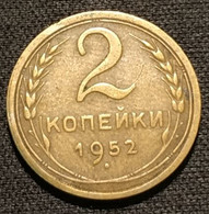 RUSSIE - RUSSIA - 2 KOPECKS 1952 - 16 Rubans - KM 113 - КОПЕЙКИ - Rusland