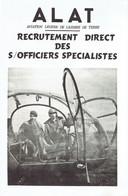 Dépliant Pour Le Recrutement De Sous-officiers Spécialistes ALAT 1965 - Aviación