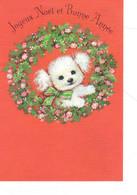 Joyeux Noël Et Bonne Année ( Carte Quadruple Avec Un Chien Format 11x16 - Other