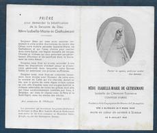 Faire Part Décès  Mère Isabelle Marie De Gethsemani ; Isabelle De Clermont Tonnerre Comtesse D' Ursel - Obituary Notices